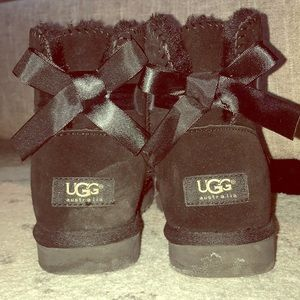 Ugg Ankle Boots with Ribbon Ankle Detail